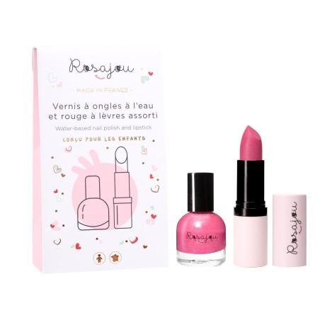 pack rouge à lèvres et vernis à ongles rose