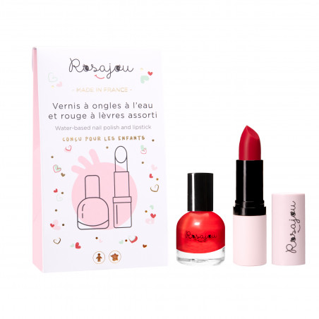 Red Lipstick and nail polish for children
