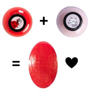Madame and Ballerine Beautiful glitter red