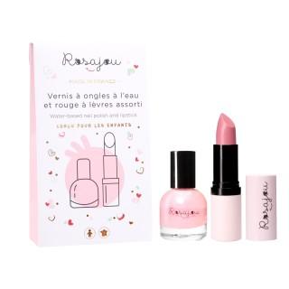 Pink lipstick and nail polish