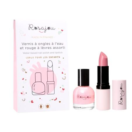 Duo rose à lèvres et vernis à ongles rose