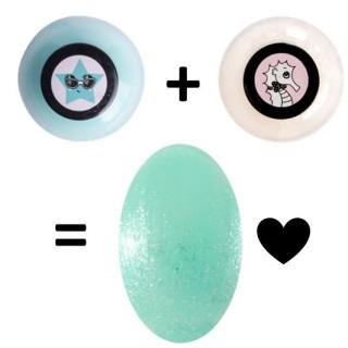 Lagon nail polish and Perle nail polish are beautiful together