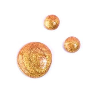 Glitter golden nail polish